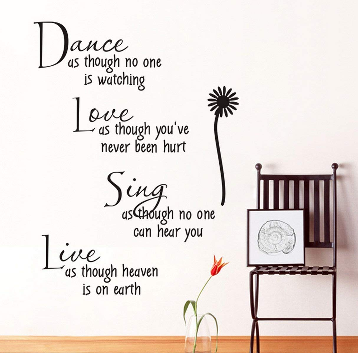 Modern Inspirational Quote For Home Wall Sticker