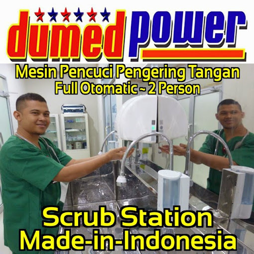 Scrub Station 2 Person Full-Automatic Sensor