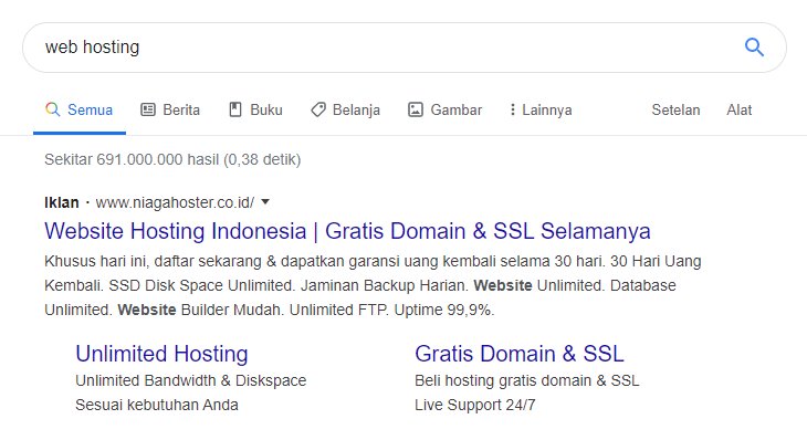 Contoh search engine marketing