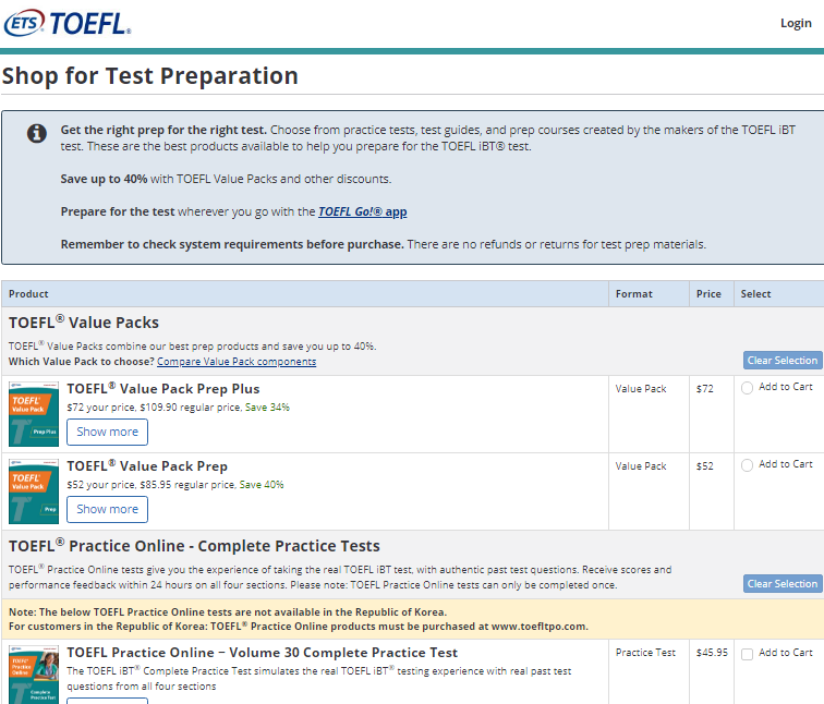 TOEFL Exam Registration Step 6