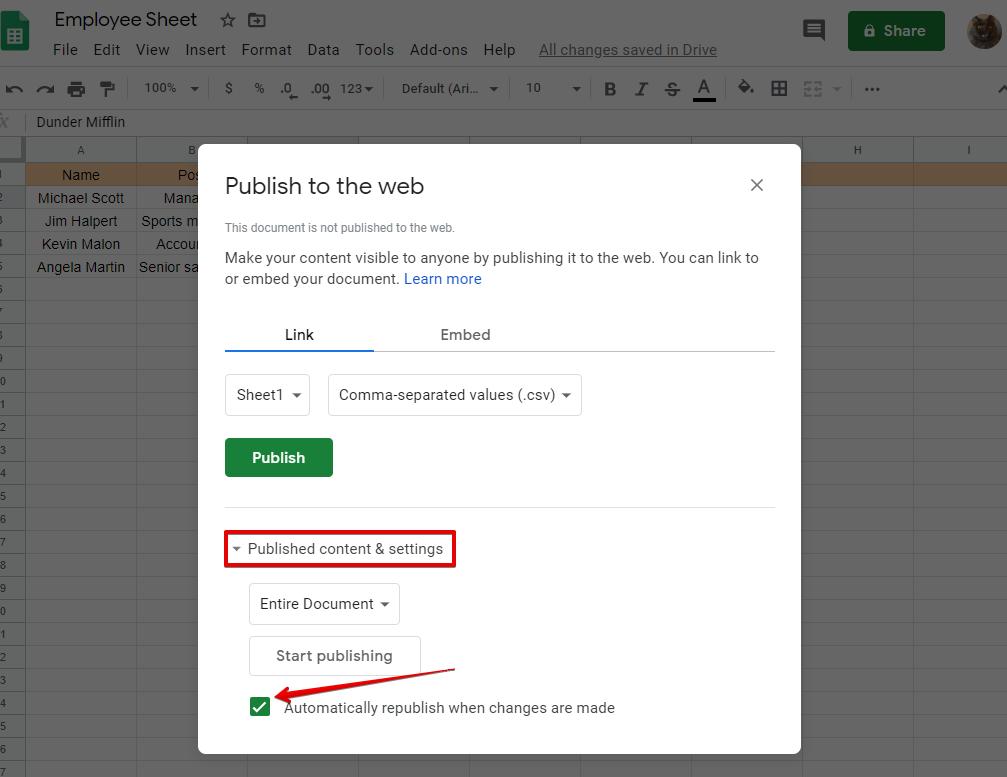 how do I embed Google Sheets into WordPress tables