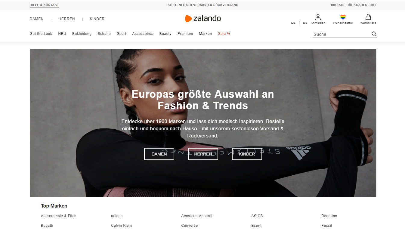 Zalando, one of the best marketplaces to sell in Germany