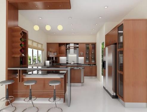 Thiết kế phòng bếp theo phong cách mở độc đáo hợp phong thủy