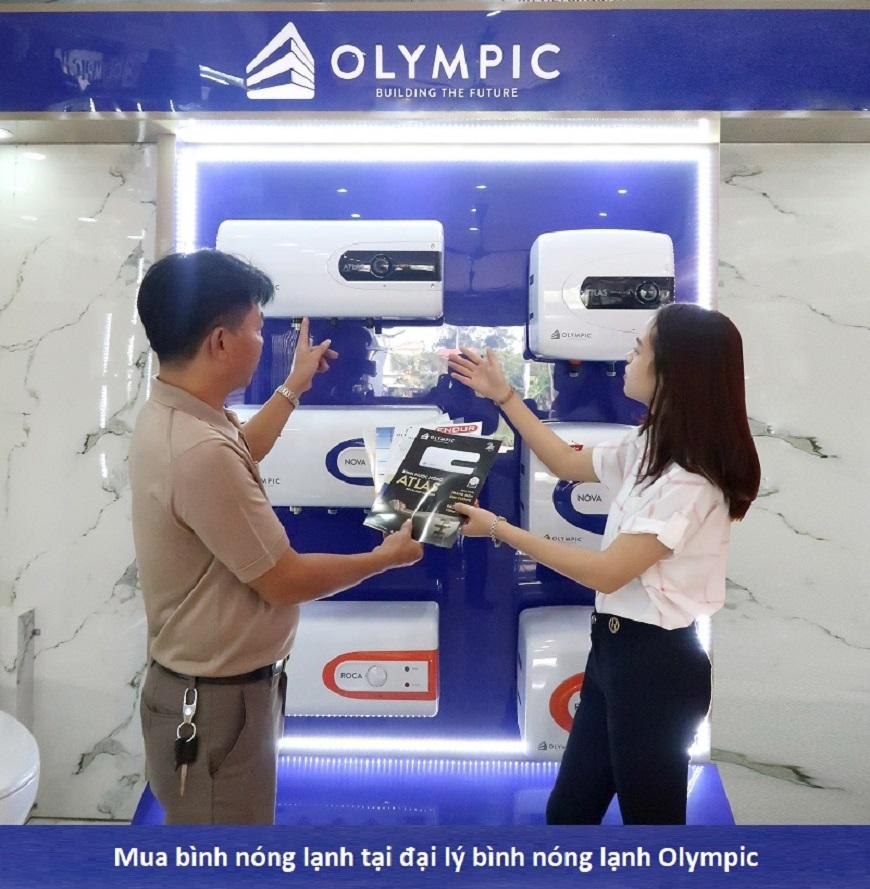 Mua bình nóng lạnh Olympic tại các đại lý phân phối bình nóng lạnh chính hãng