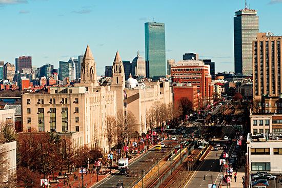 Commonwealth Avenue, Boston University campus