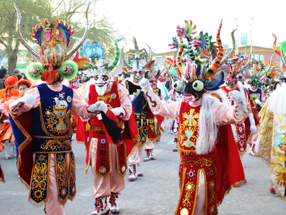 Devil masks in La Tirana Festival