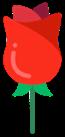 Flor vermelha.