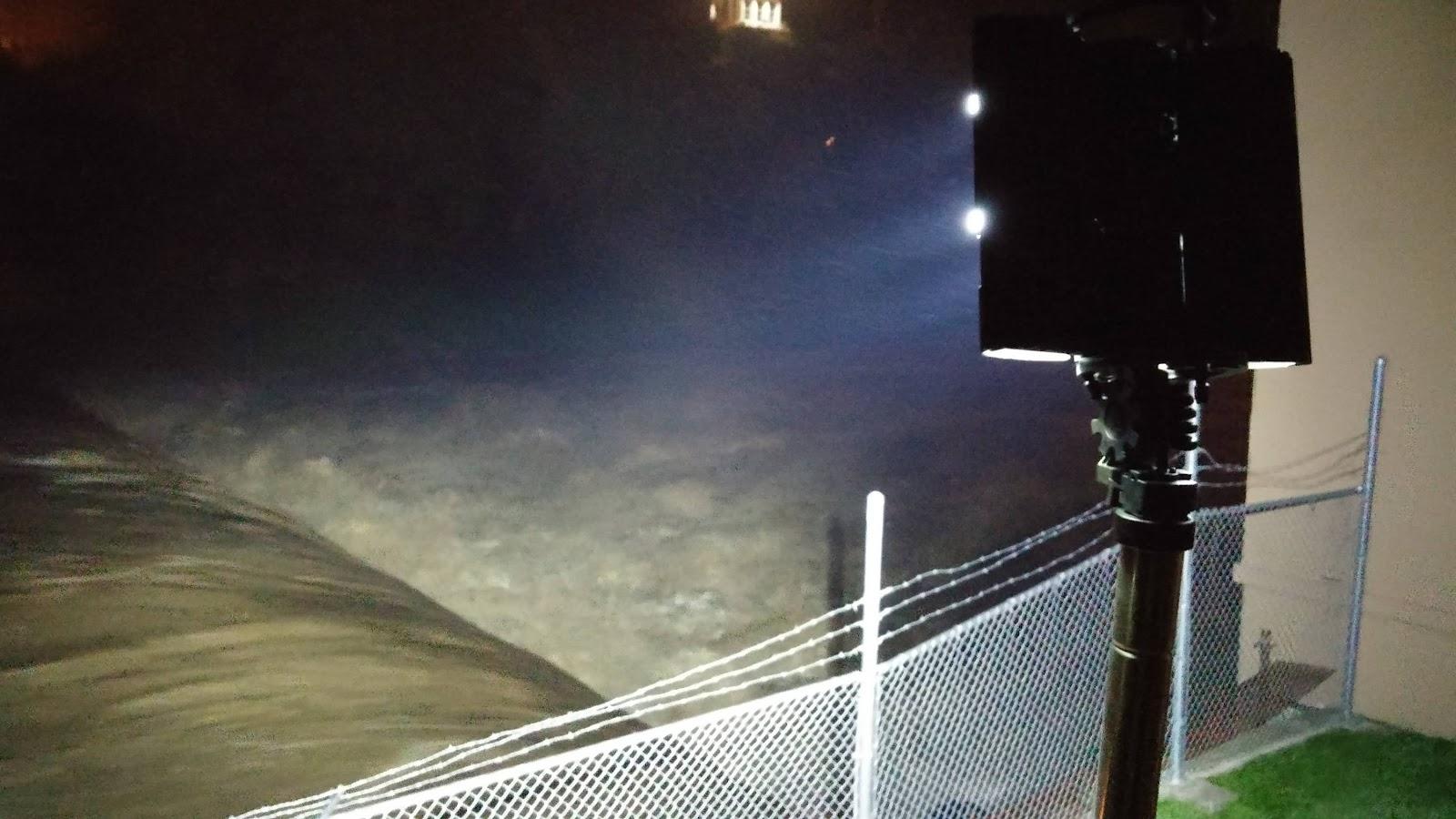 FoxFury Nomad 360 Scene Light Over Looks Turkey River for Flooding