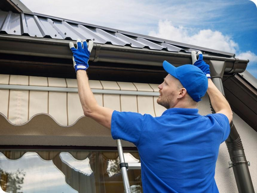 Lắp đặt máng xả nước giúp tăng hiệu quả chống thấm dột