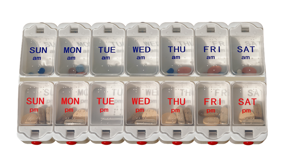 Pills Dispenser, Pills, Medicine, Organizer, Tablets