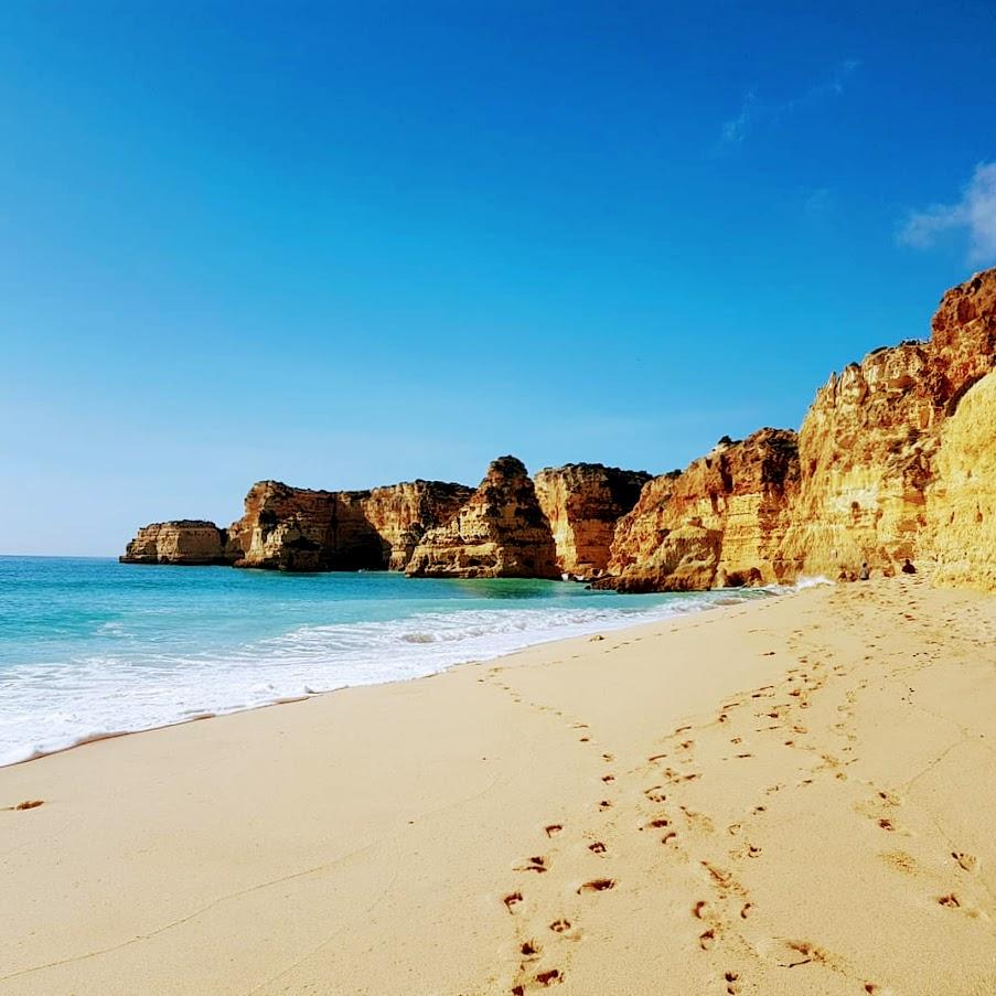 rantakäveliy, Falesian ranta, Albufeira Appelsiininkukka, UNKNOWN PORTUGAL