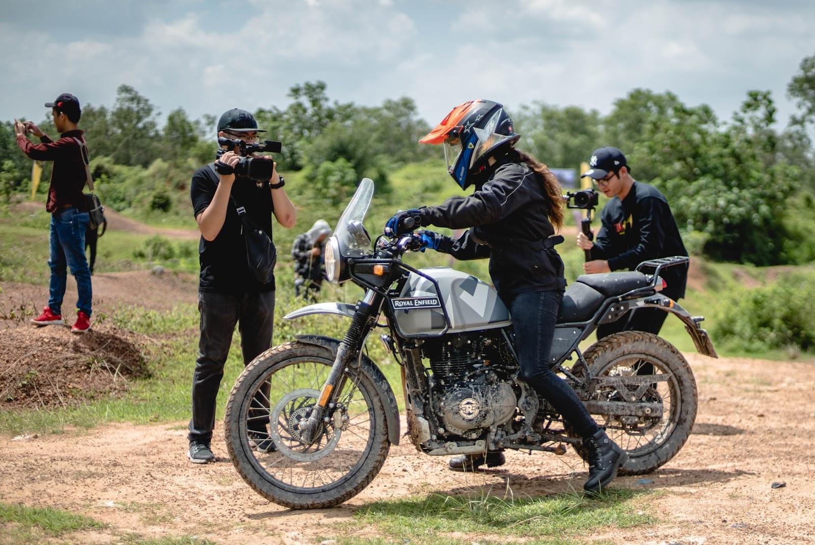 Female Adventure Riders having fun