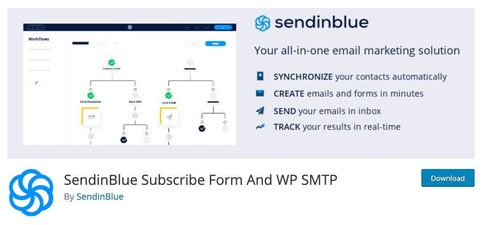 SendinBlue's official WordPress plugin.