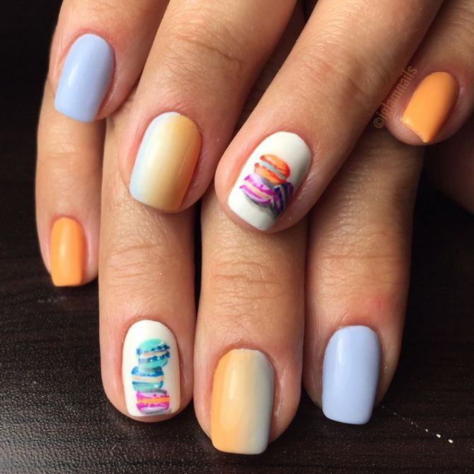 manicure Pastel colors