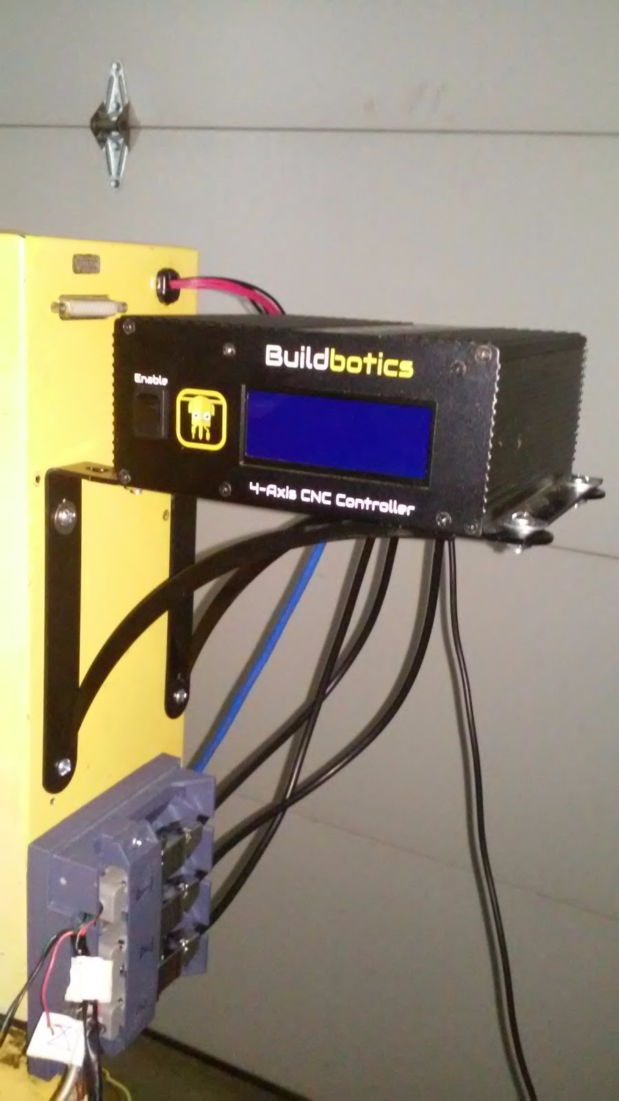 Instructions Cnc Retrofit With A Buildbotics Controller The Figure Shows Connections For Db25 Connectors Use Table Youll Need To Drill Some Holes In Side Of Existing Control Enclosure Then Attach Brackets And