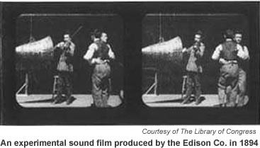 Eary Edison sound film 1894.
