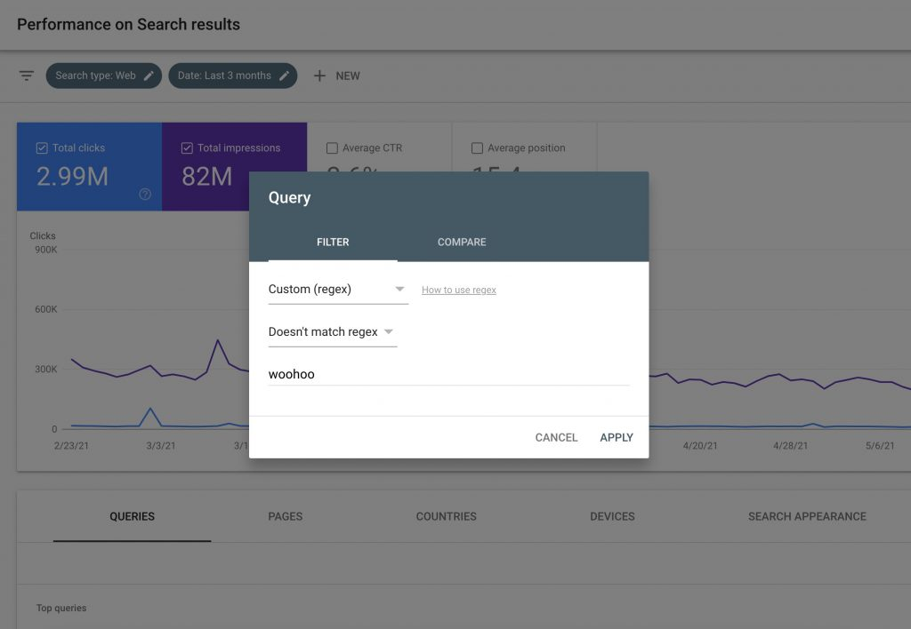 Cách sử dụng Regex Filter  trong Google Search Console