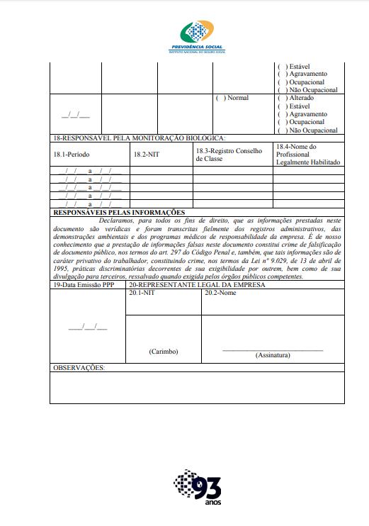 Perfil Profissiográfico Previdenciário 2