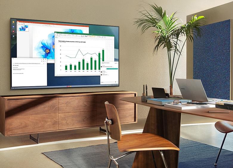 Smart Tivi Samsung 4K UHD 43 inch UA43AU9000KXXV   Học tập và làm việc thoải mái
