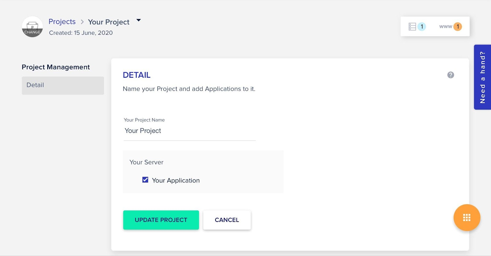 Create projects in cloudways