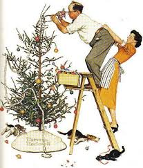 Trimming the Tree Norman Rockwell