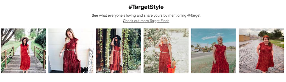 example of Target UGC content marketing