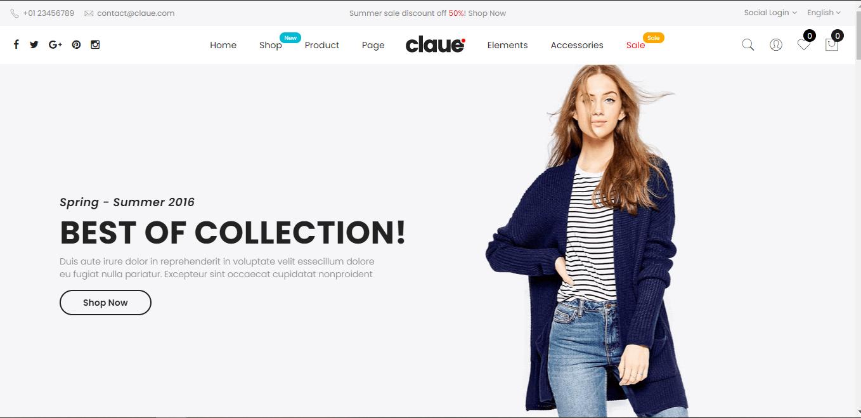 Ecommerce store theme: