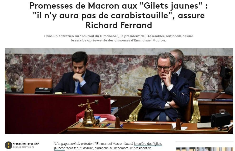 Richard Ferrand - Macron - Gilets Jaunes