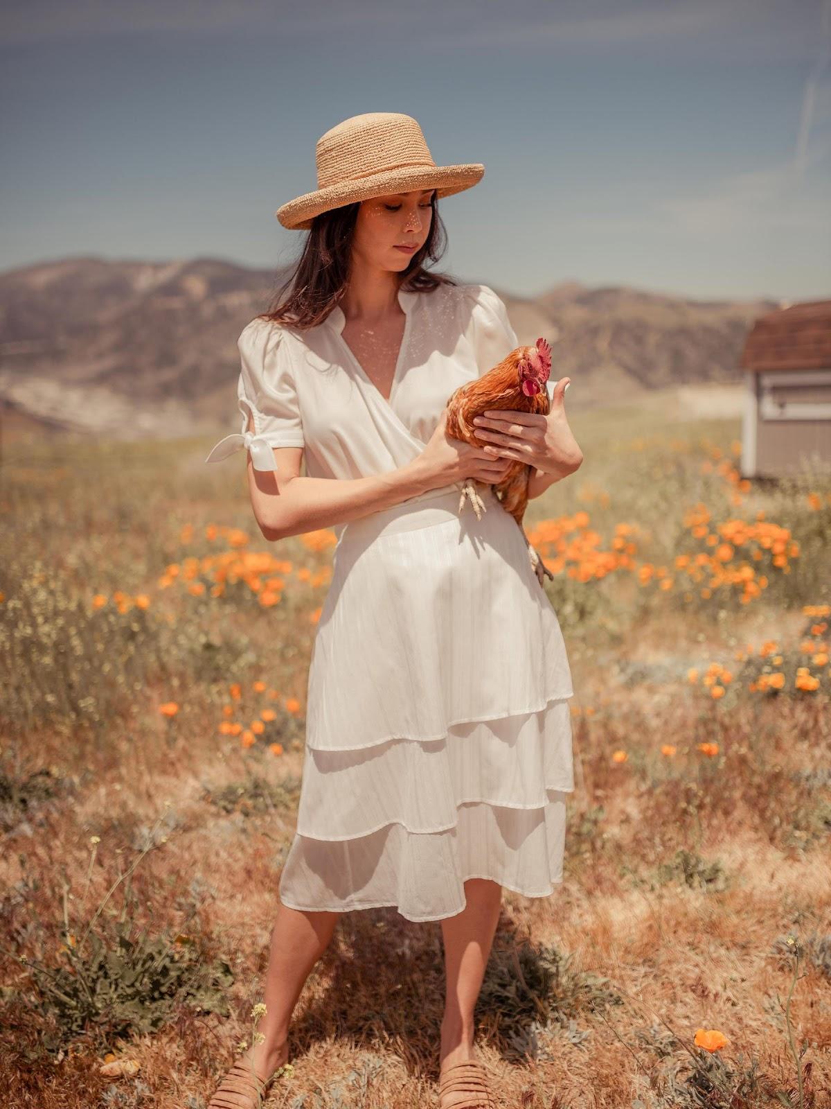 Beautiful white skirt from Valani made with vegan eco-friendly banana fabric