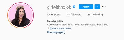 girlwithnojob instagram handle