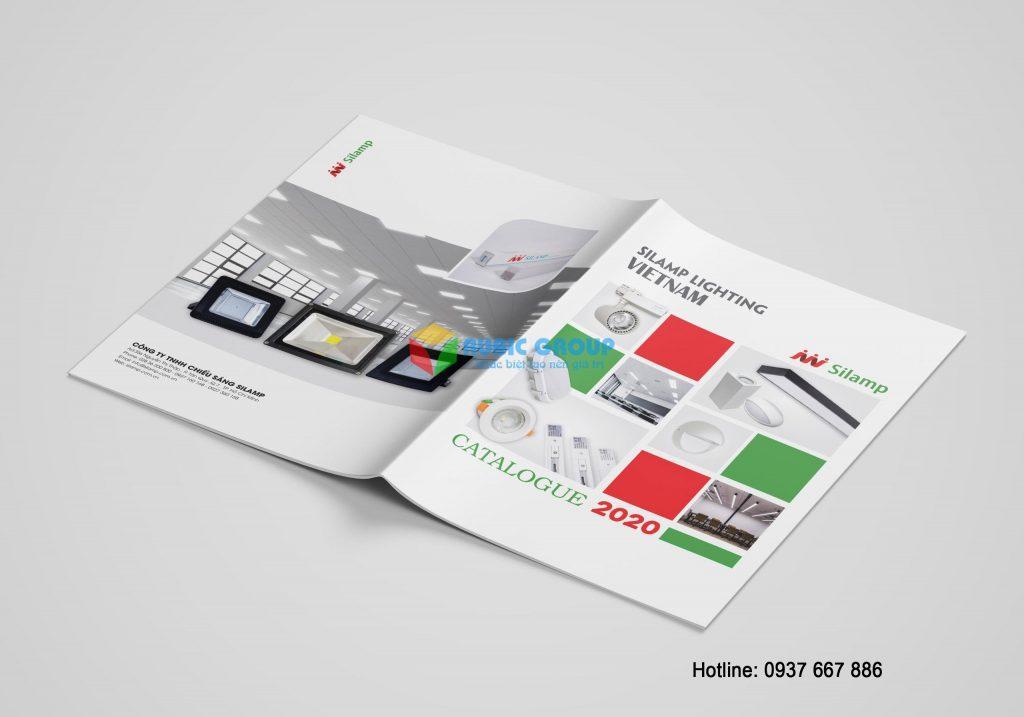 Mẫu thiết kế catalogue đã được thực hiện tại Rubic