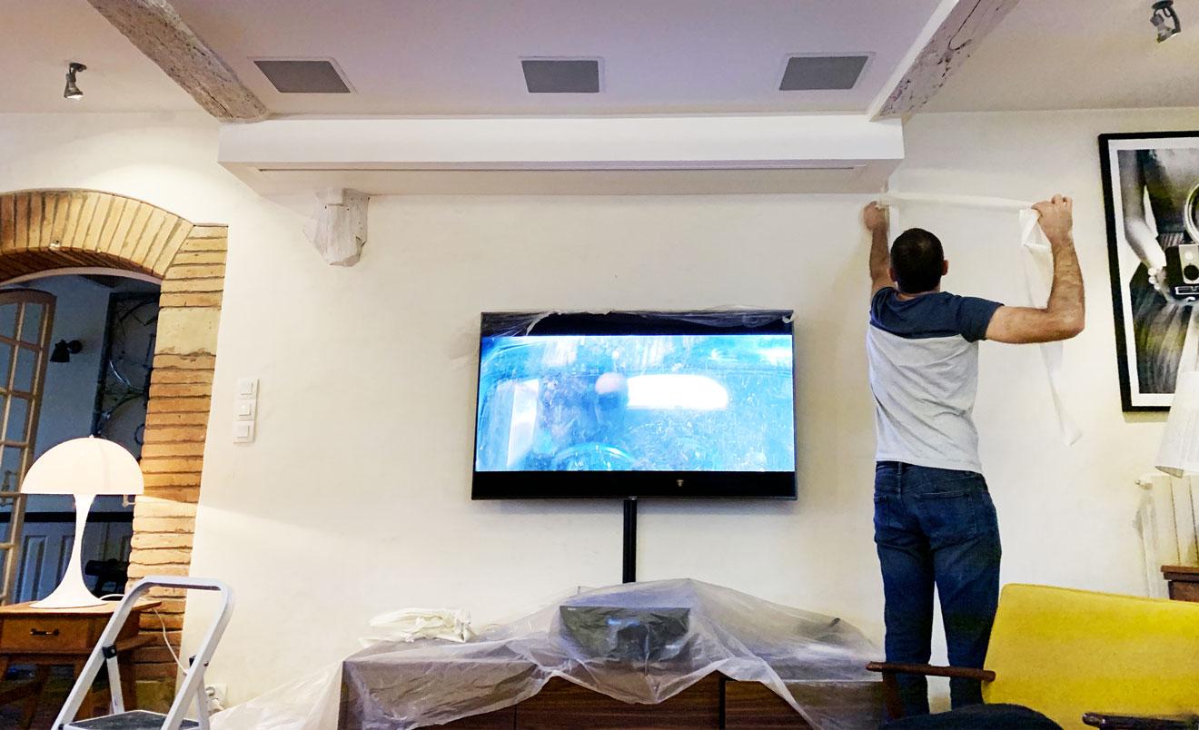Peinture Pour Ecran Retroprojecteur l'installation home cinema près toulouse de christophe (avec