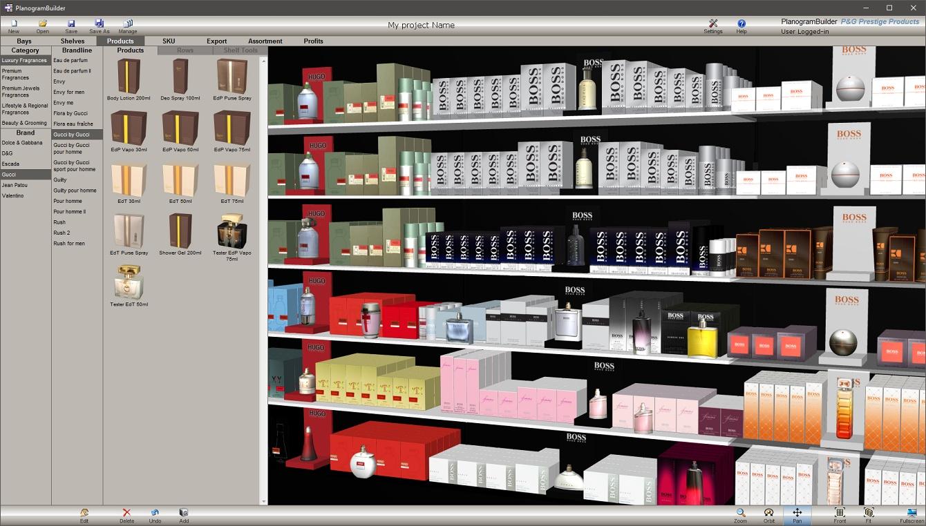 Visual merchandising planogram