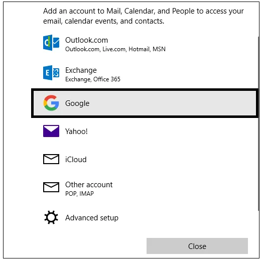 How you can Setup Gmail in Windows 10