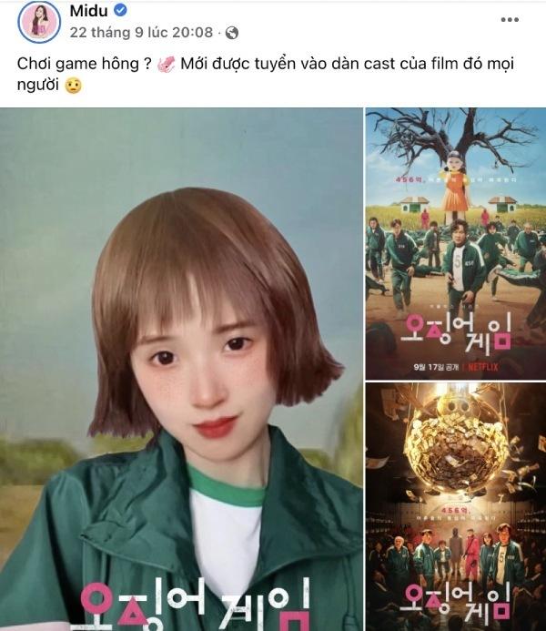 Midu thể hiện mình là một fan chân chính của bộ phim. (Ảnh: FBNV) - Tin sao Viet - Tin tuc sao Viet - Scandal sao Viet - Tin tuc cua Sao - Tin cua Sao