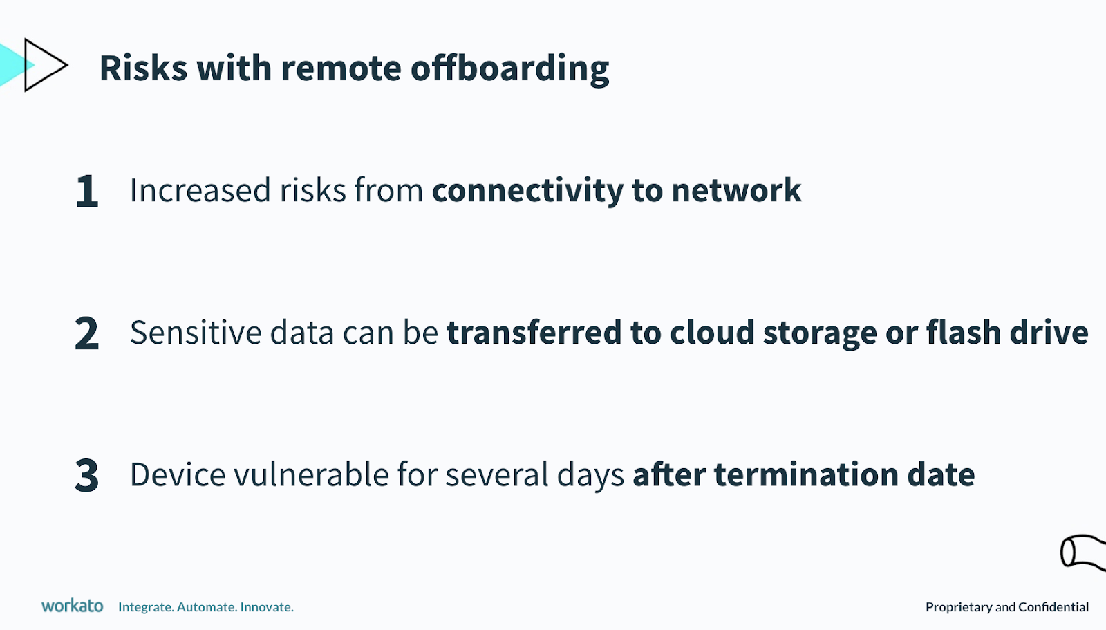 A list of remote offboarding risks