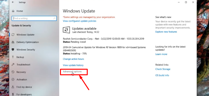 Windows 10 update version 1903