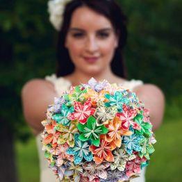 Креативный свадебный букет