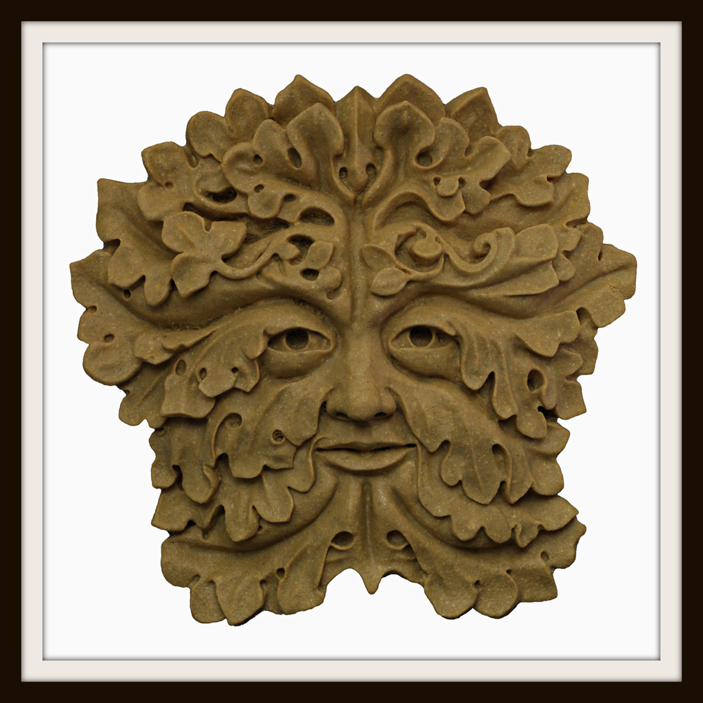 THE WOODKNOT GREEN MAN ~ GREENMAN WALL PLAQUE ~ GARDEN OR INDOORS ~ UK MADE