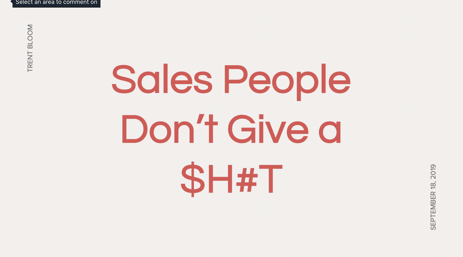 salespeople don't give a s**t