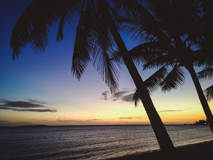 Sunsets on the west coast of New Caledonia are beautiful.