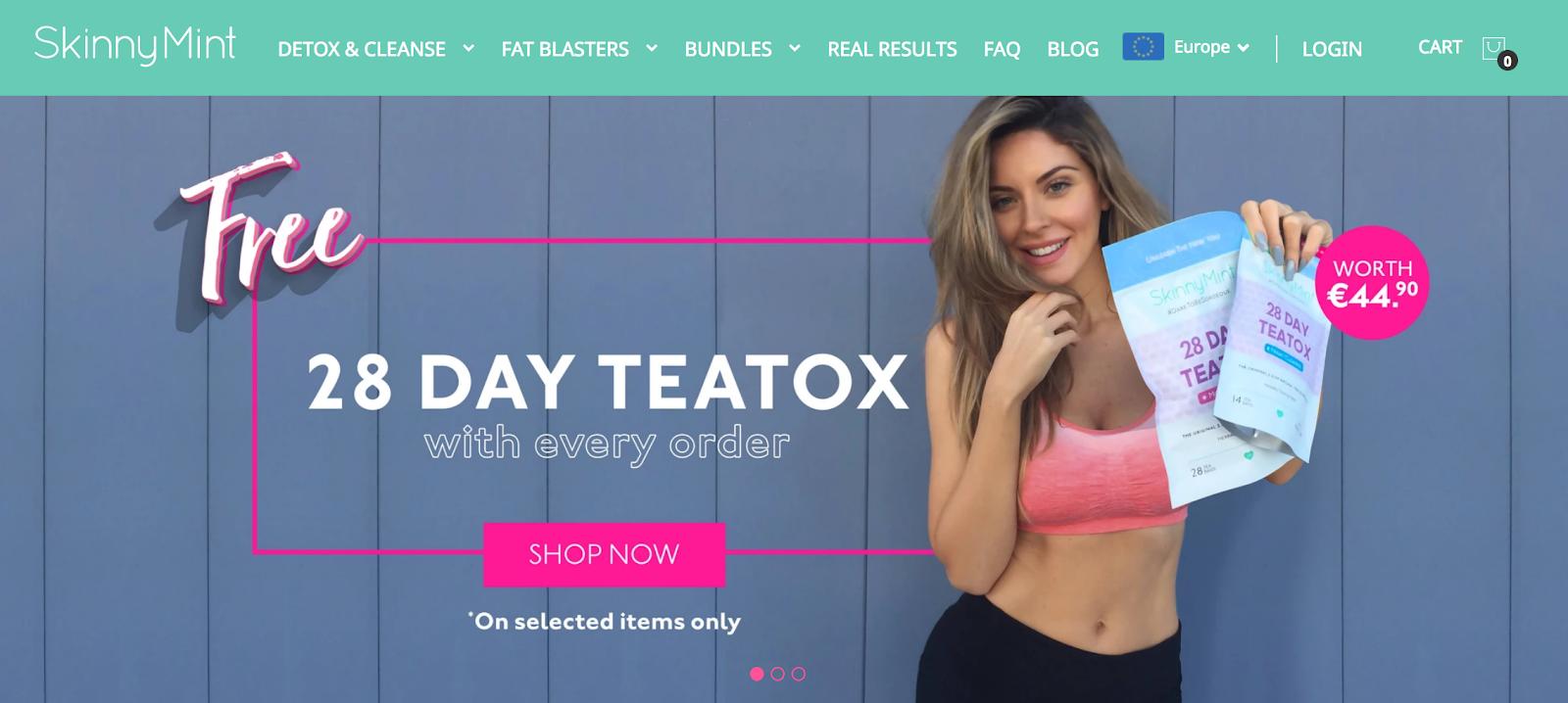 SkinnyMint - Free 28-Day Teatox
