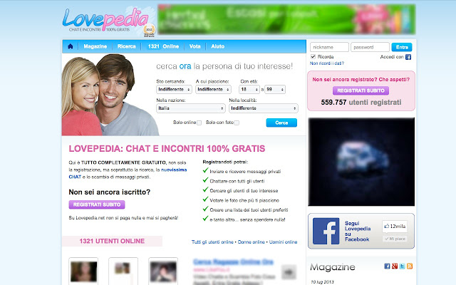 lovepedias two chat italia