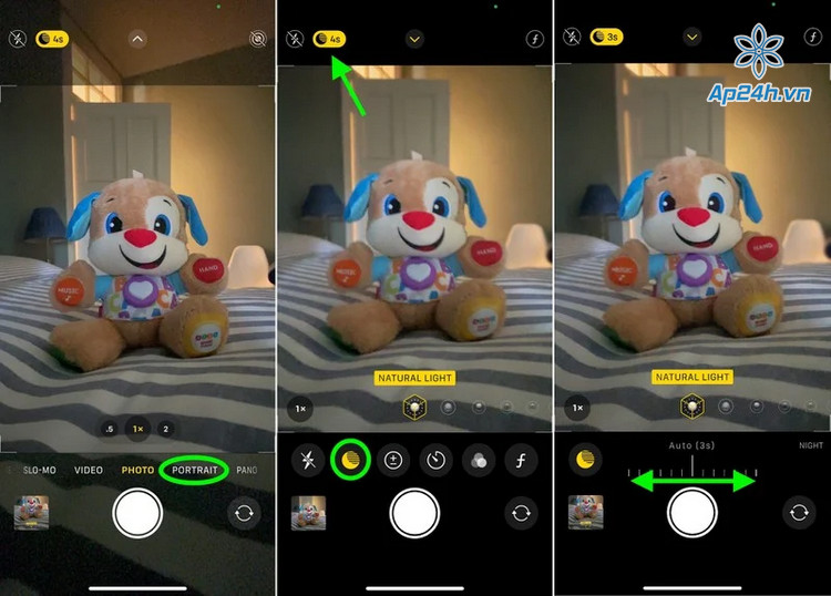 Chup ban dem iPhone 12 chat luong sac net