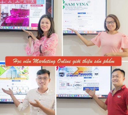 Học viên khóa học Digital Marketing Online giới thiệu sản phẩm