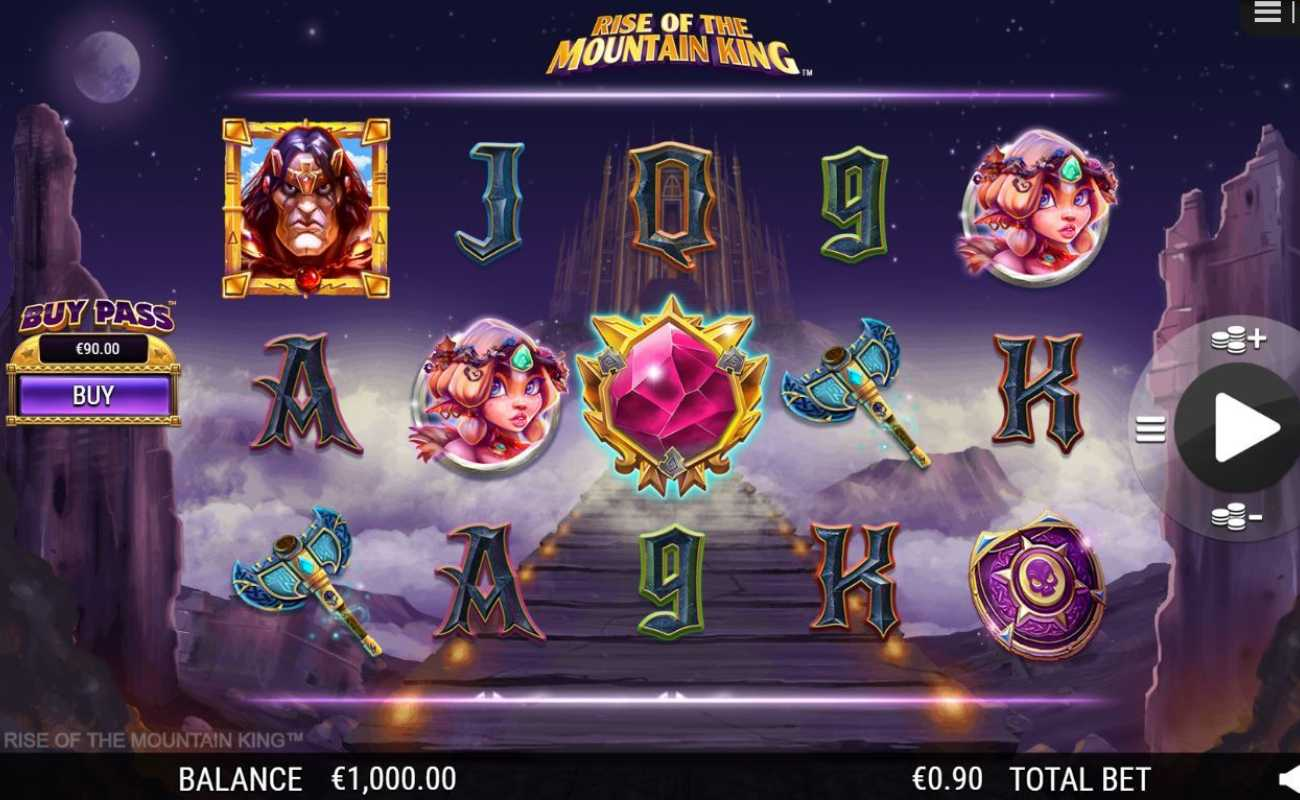Rise of the Mountain King by NYX online slot casino game