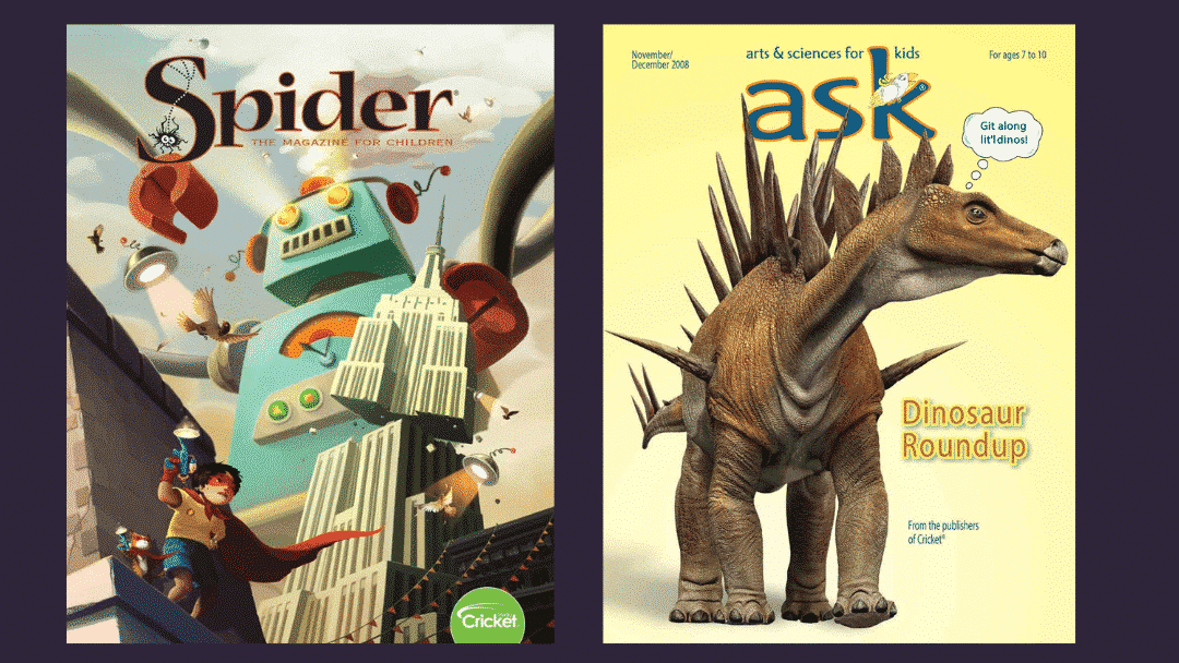 Spider and Ask Magazines are perfect for kindergarten gifts