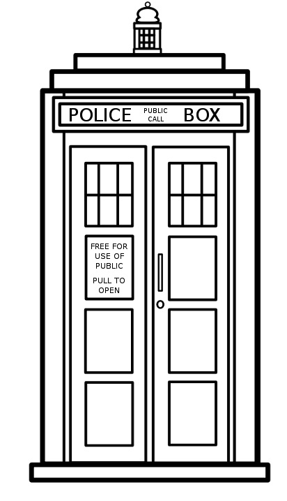 online for a picture of the tardis to use as a blueprint of sorts this    How To Draw The Tardis Easy