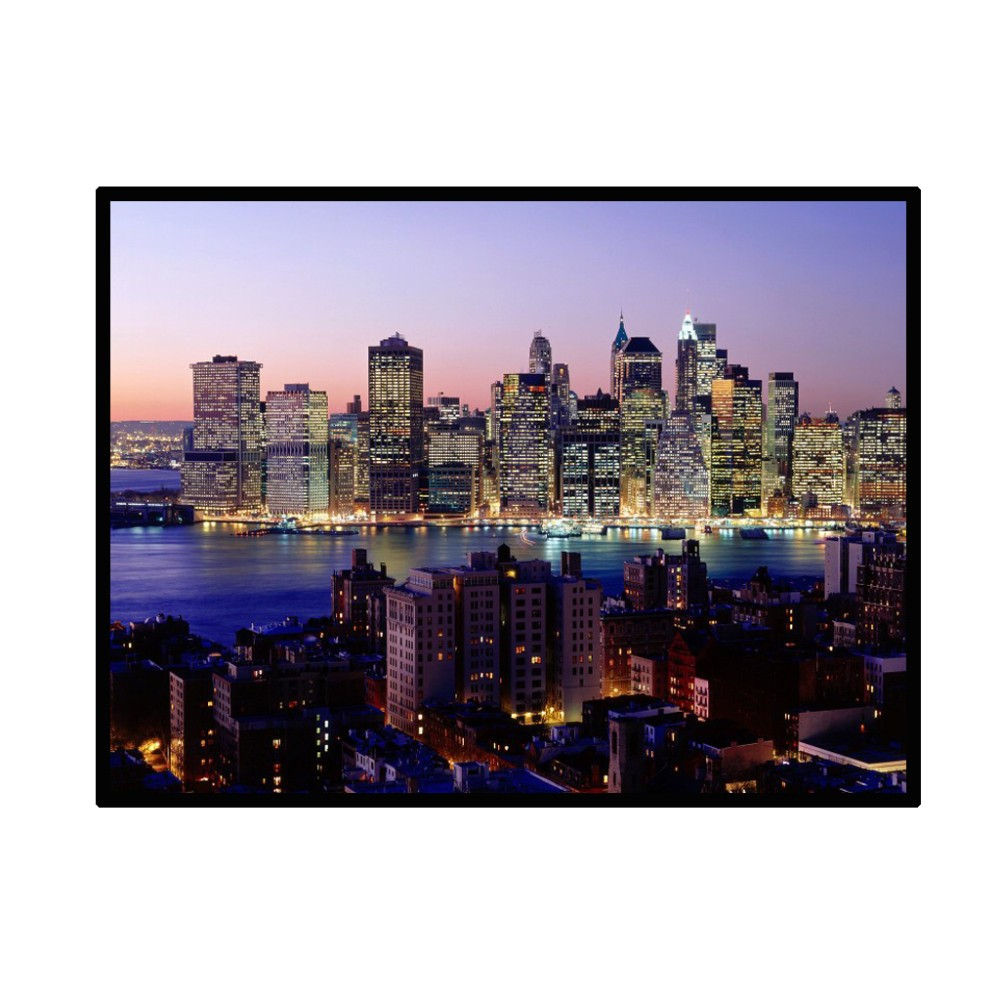 Grand Ecran de Projection. 254 Centimetres 43 Blanc Mate PVC Portable (S'enroule). www.avalonlineshopping.com.jpg