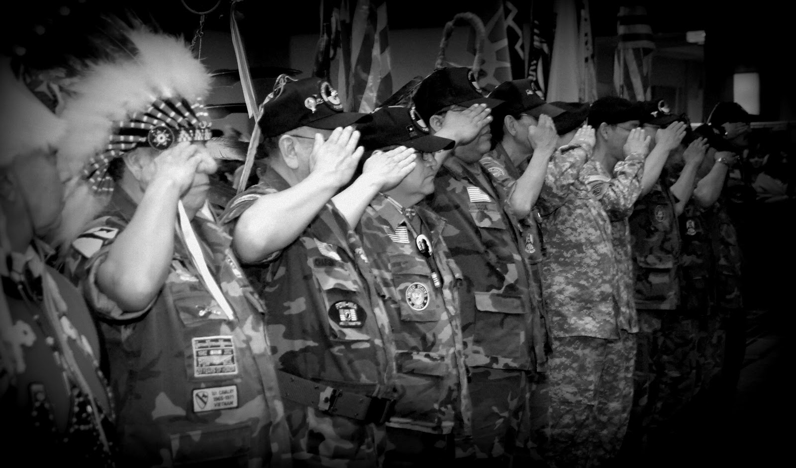 A Salute by Native Veterans in Washington DC - Photo: Vincent Schilling